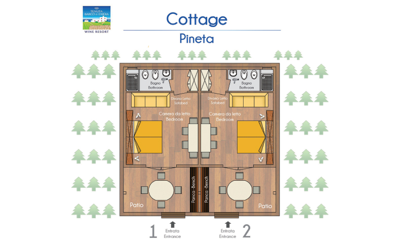 Planimetria - Cottage in Pineta