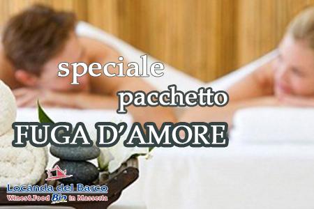 "Pacchetto ""Fuga d'amore"""