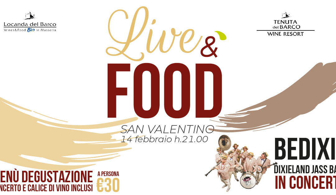 🎷 LiveéFood 😋 💘 San Valentino Swing