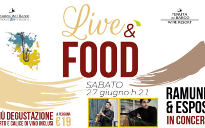 🎷 LiveéFood | sabato 27 giugno | Ramunno & Esposito DUO in concerto