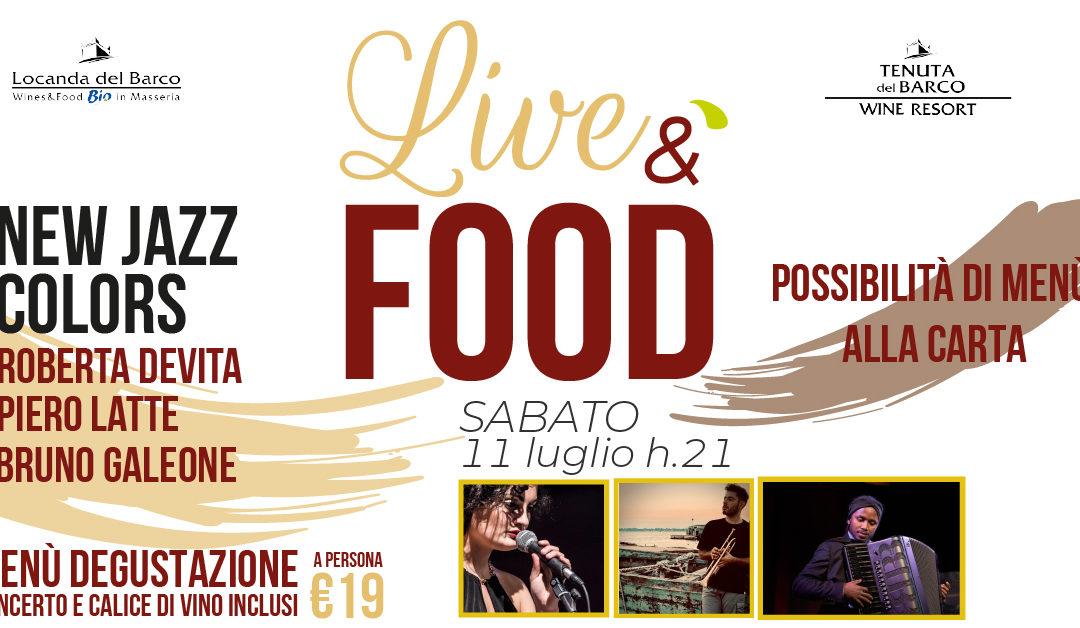 🎷 LiveéFood | sabato 11 luglio | New Jazz Colors in concerto