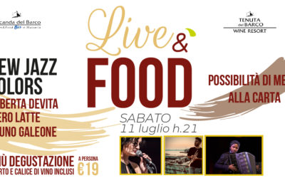 🎷 LiveéFood | sabato 11 luglio | New Jazz Colors in concerto